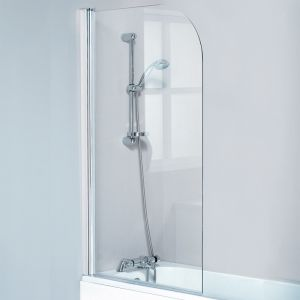 Single Round Bath Screen - 6mm Toughened Safety Glass