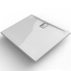 Super Slim Stone Resin 25mm Low Profile Square Tray