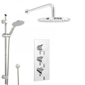 Aquabliss Stacey Thermostatic Shower Pack inc Triple Concealed Valve