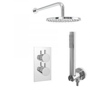 Pure Thermostatic Shower Pack Inc Dual Concealed Valve