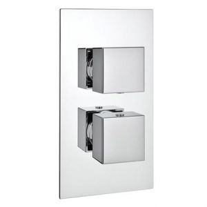 Supersonic Twin Square Concealed Thermostatic Valve